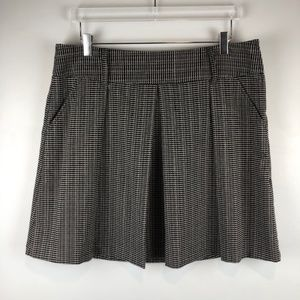 Maurices Black & White Woven Style Skirt
